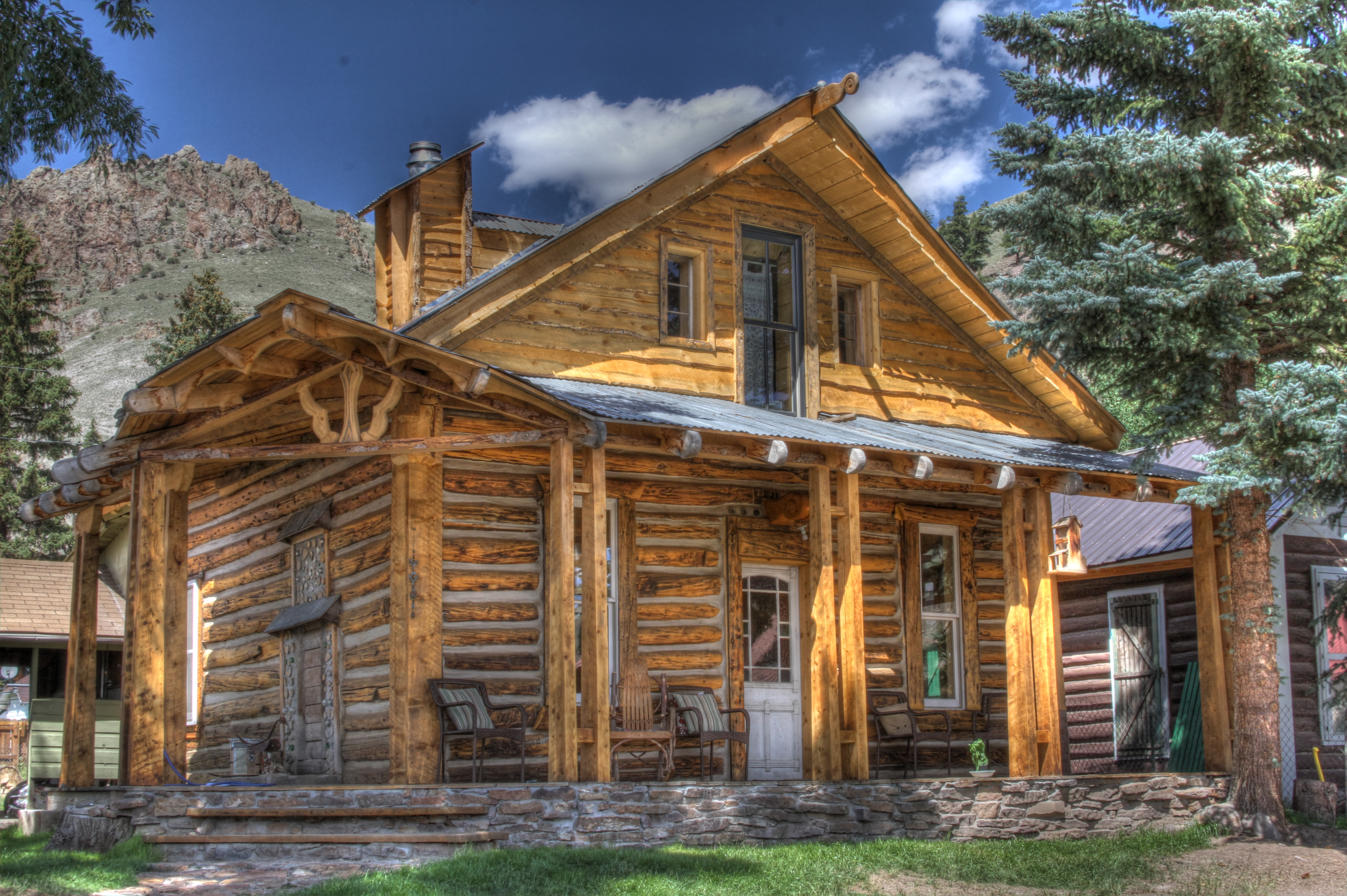 Marvelous photograph of Cozy little log cabin reddirtpics with #68472C color and 5172x3441 pixels